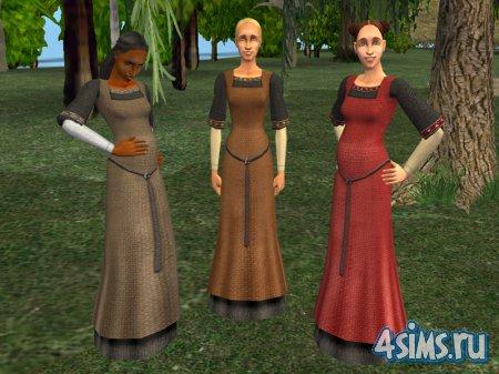 Одежда для беременных в Sims2 Medieval