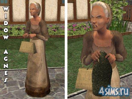 """Костюм """"Старая кашёлка"""" для The Sims2 Medieval"""