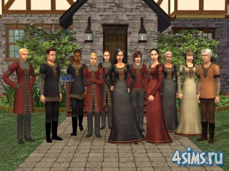 Одежда королевских служащих для The Sims2 Medieval