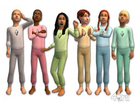 Прикольная пижама для детей и младенцев (Симс2)