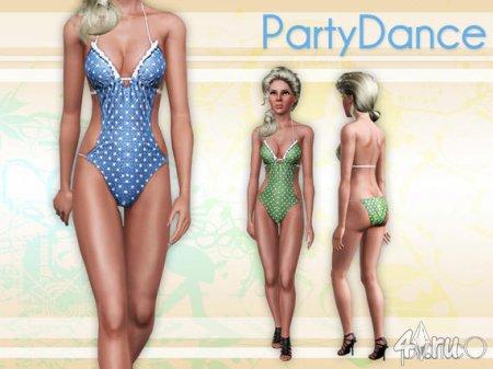 Купальник PartyDance для Симс 3 в формате sims3pack