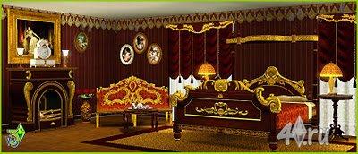 Спальня XIX века для Симс 3 в формате sims3pack