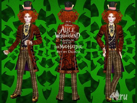 Сим Шляпник (из Алисы в стране чудес) для Sims 2