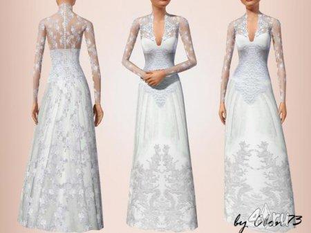 Свадебное платье Кейт Миддлтон (Kate Middleton) от Cbon73 для Симс 3 в форм ...