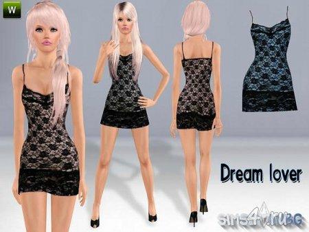 """Платье """"Мечтательный любовник"""" от Sims2fanbg для Симс 3 в формате sims3pack"""