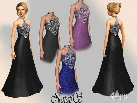 Официальное вечернее платье от NataliS для Симс 3 в формате sims3pack