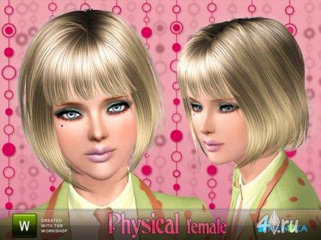 """Прическа """"Physical"""" от NewSea для Sims 3 в формате sims3pack"""