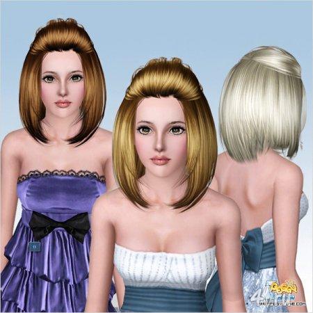 Пышная прическа от Peggyzone для Sims 3 в формате package