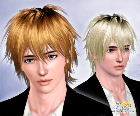 Мужская прическа от Peggyzone для Sims 3 в формате package