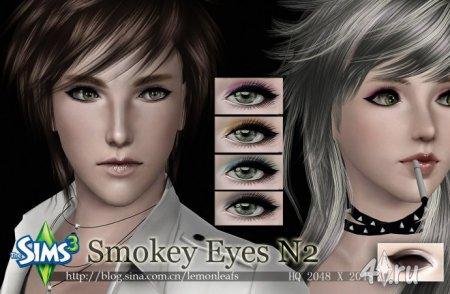 Тени для век Smokey Eyes №2 от Lemonleaf для Sims 3 в формате sims3pack