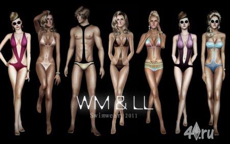 Набор купальных костюмов от Lemonleaf для Симс 3 в формате sims3pack