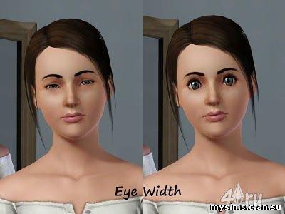 Слайдеры для лица, глаз и плеч (для игры Симс 3)