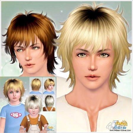 Мужская прическа от Peggyzone для Sims 3