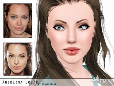 Анджелина Джоли (Angelina Jolie) от Pralinesims для Sims 3