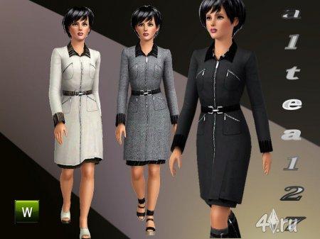 Женское пальто от altea127 для Симс 3 в формате sims3pack
