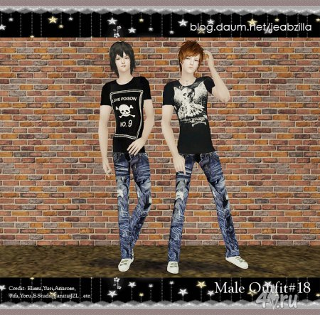 JZL Male Outfit by Tifa for Sims 2