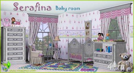 """Мебель для детской комнаты """"Сирафина"""" от VitaSims3 для Симс 3 в формате sims3pack"""