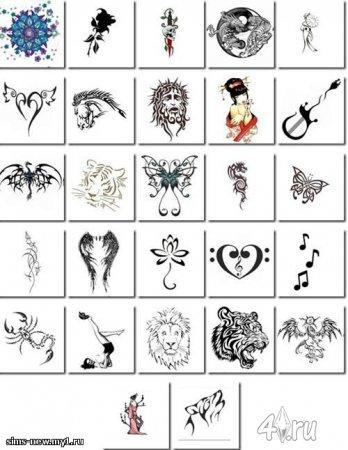 Набор татуировок от официального сайта The Sims 3