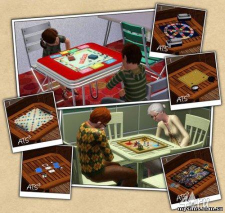 12 настольных игр от Around the Sims для Симс 3 в формате sims3pack