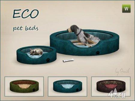 """Кровать для питомцев """"Эко"""" от Gosik для Симс 3 в формате sims3pack"""