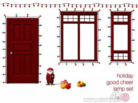 Рождественские лампочки от Dot для Sims 3