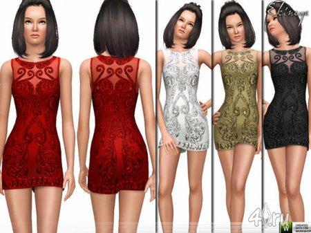 Кружевное платье от Ekinege для Симс 3 в формате sims3pack