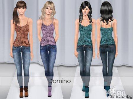 Одежда (джинсы и топ) от Sims2fanbg для Sims 3 в формате sims3pack