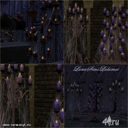 Свечи вампира и паутина от Luna