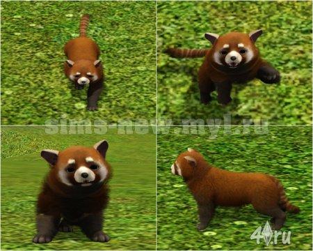 Красная панда для Симс 3