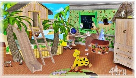 """Мебель для детской """"Пальмовый Рай"""" (Симс 3) от Helen в формате sims3pack"""