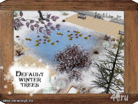 Снежные деревья от Victor для Симс 3