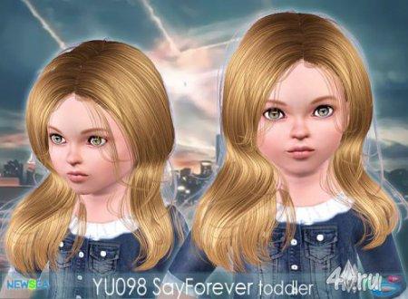 Прическа с длинными волнистыми волосами от Newsea для Sims 3