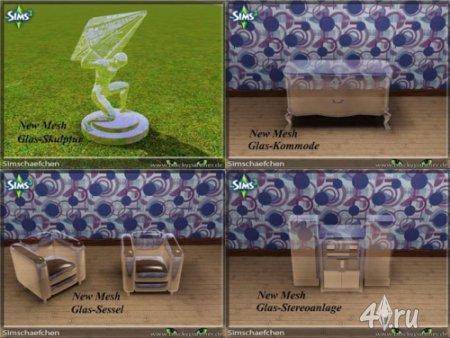 Прозрачные объекты от Simschaefchen для Симс 3 в формате sims3pack