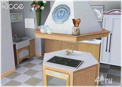 """Кухня """"Ricce"""" от Breeze для Симс 3 в формате sims3pack"""