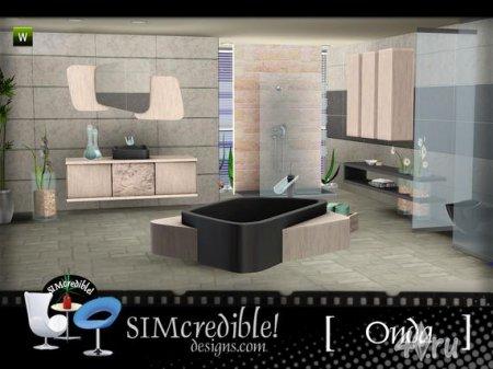 """Ванная комната """"Онда"""" от SIMcredible для Sims 3 в формате sims3pack"""