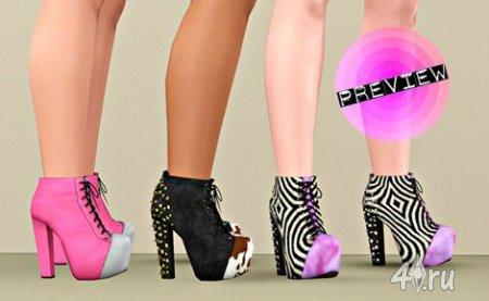 Гламурные ботинки для Sims 3