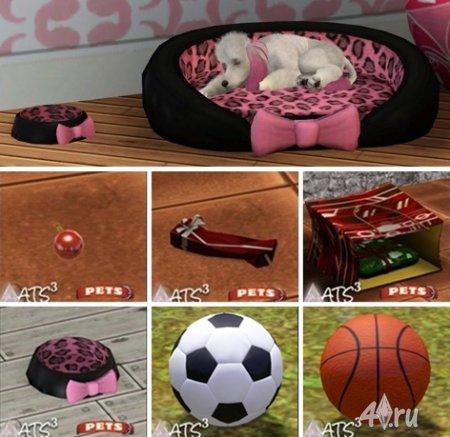 Объекты для животных и мячи от Sandy для Симс 3 в формате sims3pack