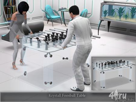 Стол для настольного футбола от Sugar-Baby756  для Симс 3 в формате sims3pack