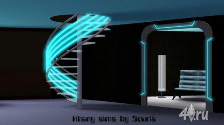 Набор мебели Научная фантастика (Science-Fiction) для Симс 3 в формате sims3pack