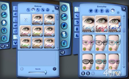 3D ресницы проекта от S-Club для Симс 3