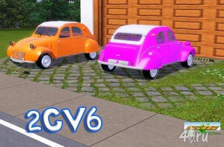 Машина Ситроен (Citroen 2CV6) от bobo для Симс 3 в формате sims3pack