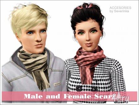 Мужской и женский шарфы для Симс 3 в формате sims3pack