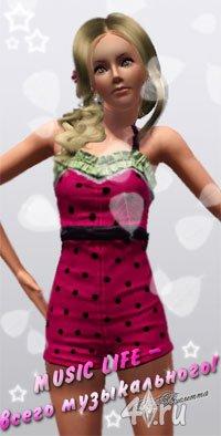 MUSIC LIFE - всего музыкального! Фильм от Виолетты Sims 3