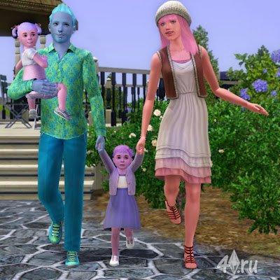 Как в симс 3 сделать семью