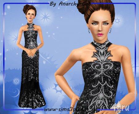 Платье Селенит от Anarchy-Cat для Симс 3 в формате sims3pack