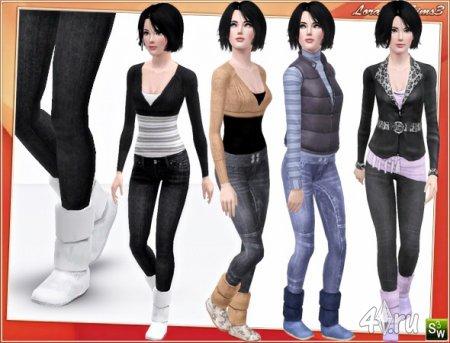Сапожки от Lorandia для Симс 3 в формате sims3pack