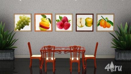 Картины для столовой и кухни от Нави (Симс 3) в формате sims3pack