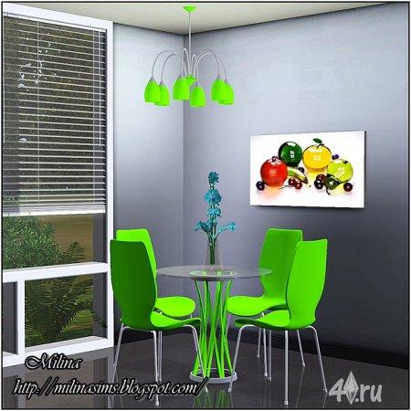 Современный набор мебели для столовой от Milina для Симс 3 в формате sims3pack и package
