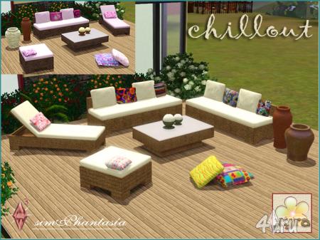 Набор мебели для патио от Kardofe для Симс 3 в формате sims3pack