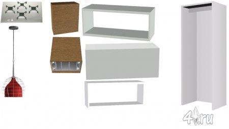Кухня и столовая от MS91 Designs для Симс 3 в формате package